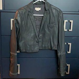 Leather bolero jacket diesel
